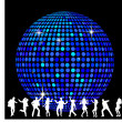 Stock Photo: Disco Ball and dancing