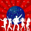 Disco Ball and dancing - Foto Stock