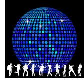 Disco Ball and dancing — Stock Photo