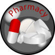 Foto de Stock  : Button Pharmacy