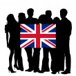 With a Flag of United Kingdom — Foto de Stock