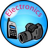 Button Electronics — Stock Photo
