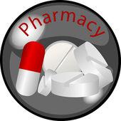 Button Pharmacy — Stock Photo