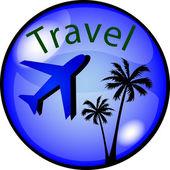 Button Travel — Stock Photo