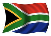 National Flag South Africa — 图库照片