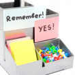Office remind - sticky notes — Stock Photo