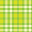 Green checked background — Stock Photo