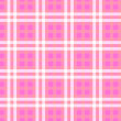 Pink checked background — Stock Photo
