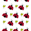 Stock Photo: Red ladybird ornament