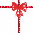 Stock Photo: Red cross ribbon and bow