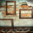 Photo frames over grunge room background — Stock Photo