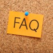 Note with faq — Foto Stock
