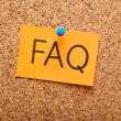 Note with faq — Stockfoto