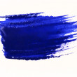 Royalty-Free Stock Photo: Blue stroke of the paint brush