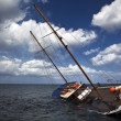 Stock Photo: Sinking Schooner