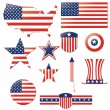 Independence day elements — Imagen vectorial