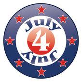 Ikona czwartego lipca Dzień Niepodległości — Wektor stockowy