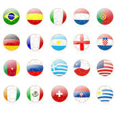 Footballs with world flags — Stock Vector