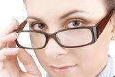 Jovem menina de óculos — Foto Stock