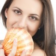 Young girl with shell — Stock Photo #2933793