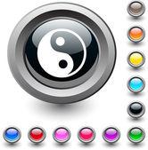 Percent round button. — Stock Vector