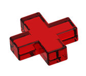 Red cross isolated on white — Stock Photo