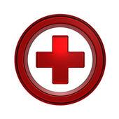 Czerwonego krzyża w kole — Zdjęcie stockowe