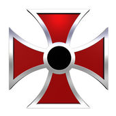 Black and red choppers cross — Stock Photo