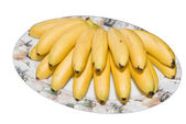 Banans branch on plate — Stock Photo