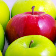 Background of green apples with one red apple — Stock Photo #3566216