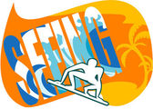 Ad of Surfing Club — Stock Vector