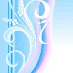 White flowers on blue — Stock Vector #3376747
