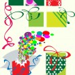 Stock Vector: Box for gifts