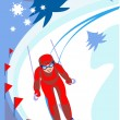 Ski_descent — Vector de stock #3727686