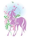 Άλογο και πεταλούδες — Διανυσματικό Αρχείο