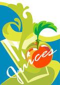 Menu of juices — Stock Vector