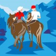 Royalty-Free Stock Vector Image: Hors riding