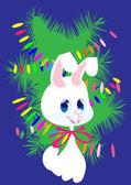 White bunny — Stock Vector