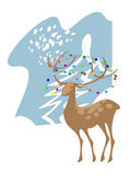 A deer in the forest — Stock Vector