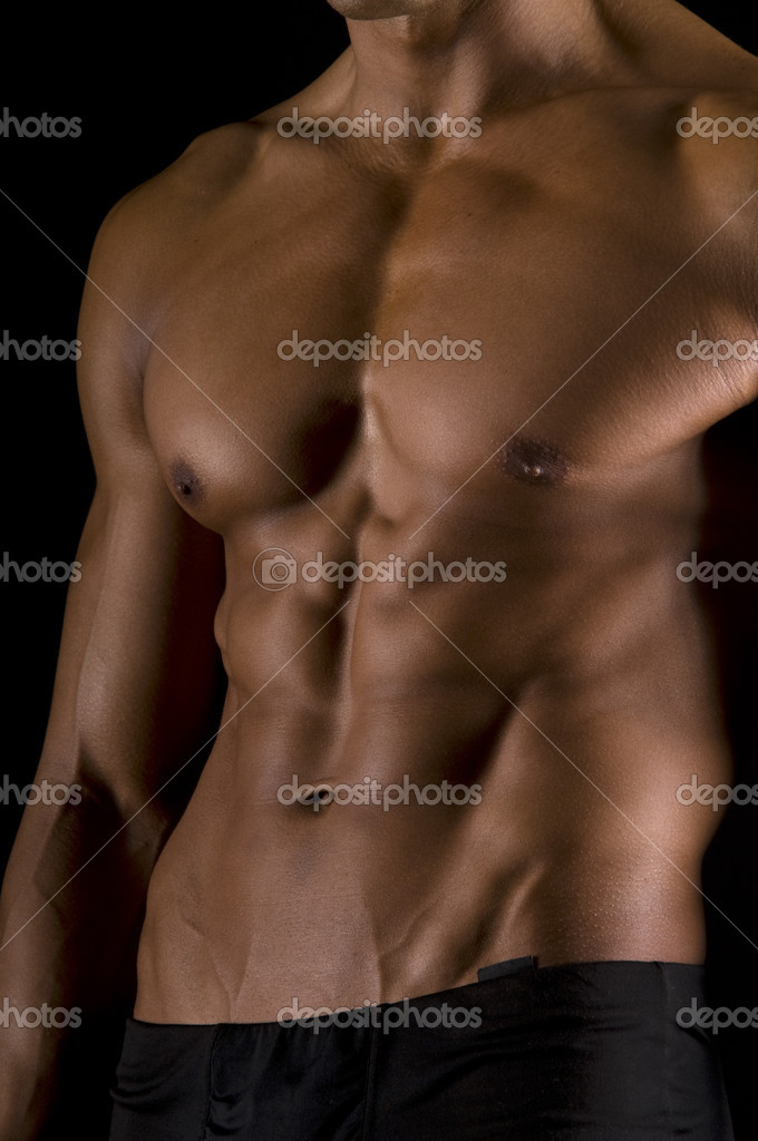 The male body on black background. — Stock Photo #2721586