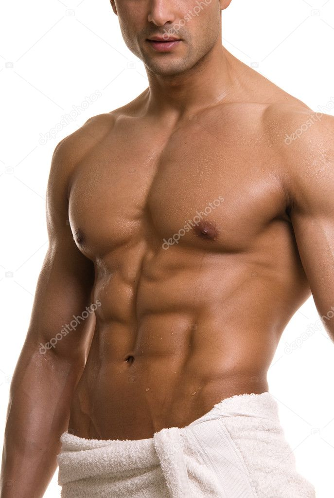 Beautiful muscular man after bath. — Stock Photo #2728422