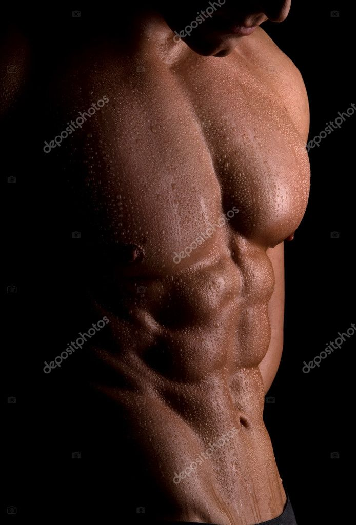 The male body on black background. — Stock Photo #2729568