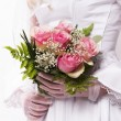 Bouquet of the bride - Stock Photo
