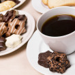 Coffee and sweets — Stock Photo