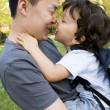 Little boy with father. — Stock Photo