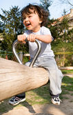 Little boy on a playground. — Stock Photo
