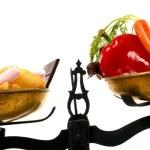 zdravé nebo nezdravé — Stock fotografie