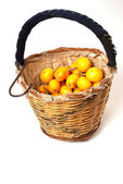 Loquat basket — Stock Photo