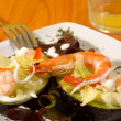 Avocado salad with fresh shrimp garnish — Stock Photo #3110300