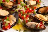 Mussel vinaigrette — Stock Photo